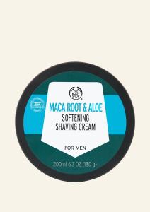 Maca root és aloe bőrpuhító borotválkozó krém